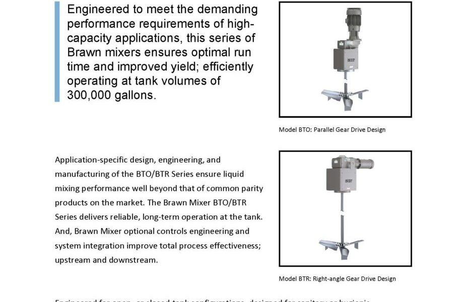 Brawn BTO/BTR Industrial Liquid Mixers